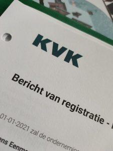 Bewijs van inschrijving KVK